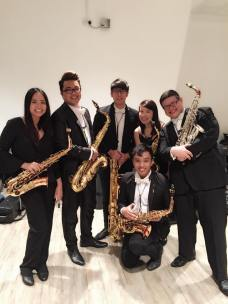 Singapore Wind Symphony Saxophone Section April 2016