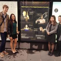 Berkeley St Saxophone Quartet - Our first billboard!