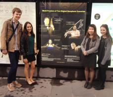Berkeley St Saxophone Quartet - Our first billboard!