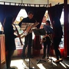 Berkeley St Saxophone Quartet at Open Studio, Classical Revolution Programme