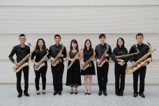 Saxophone Section of the Jurong Junior College Alumni Band. Photo by: Jordan Liang