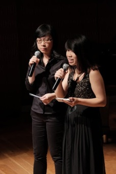 Emceeing at HOMECOMING. Photo by: Jordan Liang
