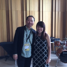 With Professor Kenneth Tse from the USA in Strasbourg (17th World Saxophone Congress)