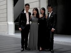 Xin Saxophone Quartet. Photo by: Carisa Davis