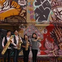 Xin Saxophone Quartet. Photo by Carisa Davis