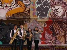 Xin Saxophone Quartet. Photo by Carisa Davis
