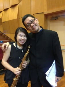 With Dr Goh Zechariah at the 6th Singapore Saxophone Symposium