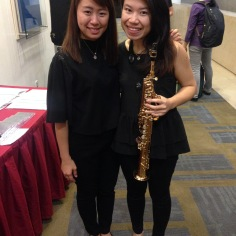 Our lovely percussionist, Sng Yiang Shan