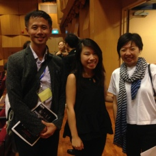 With the Taiwanese stars, Pianist, I-An Chen and Saxophonist Ku Po-Yuan
