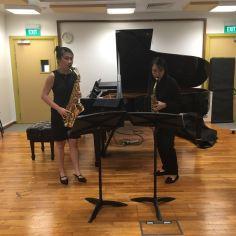 Paganini Lost partners, Alexis Seah & Michellina Chan (Saxophones)