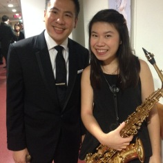 With conductor Mr Wilson Ong