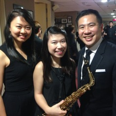 Together with trumpeter Chang Xiangyi and conductor Mr Wilson Ong