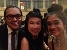With the vocalists, Afwan and Cassandra Spykerman