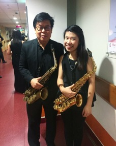 With extraordinaire saxophonist, Mr Teo Boon Chye