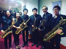 Mus'art Wind Orchestra's Saxophone section