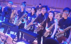 Mus'art Wind Orchestra's Saxophone section at the soundcheck