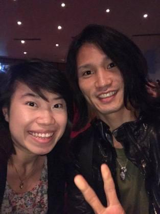 With saxophonist Yo Matsushita