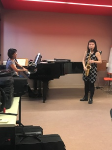 Sonate class performance with pianist Hilomi Sakaguchi
