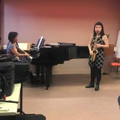Sonate class performance with pianist Hilomi Sakaguchi