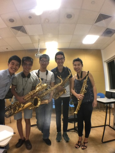 Xin Saxophone Quartet and our resident composer Jay Ong