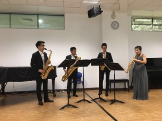 Xin Saxophone Quartet's performance