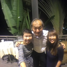 With the artistic director of the competition, Shyen Lee