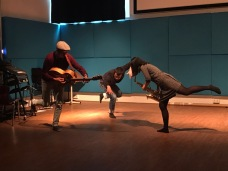Creative Performance Lab experimenting with movement and music